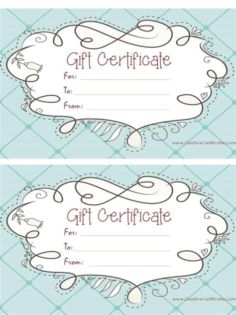 custom gift card template free gift certificate template customize and