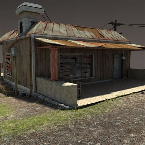 zombie house zombie house post apocalyptic ruin 3d model max obj 3ds fbx lwo lw lws hrc
