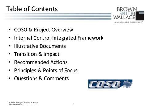 Coso Internal Control Integrated Framework Principles | coso deck