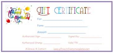 Birthday Gift Certificate Template For Word by Birthday Gift Certificate Template