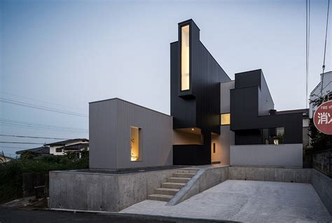 modern japanese architecture hillside quot scape house quot disclosing a surprising geometry in