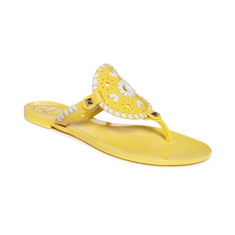 rogers jelly sandals rogers georgica jelly sandals in yellow