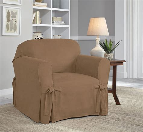 suede slipcover serta relaxed fit smooth suede slipcover