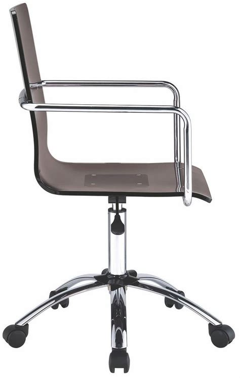 acrylic office furniture smoke acrylic office chair 801437 coaster furniture
