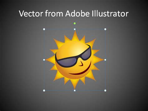 how to use adobe illustrator vectors in powerpoint 2010