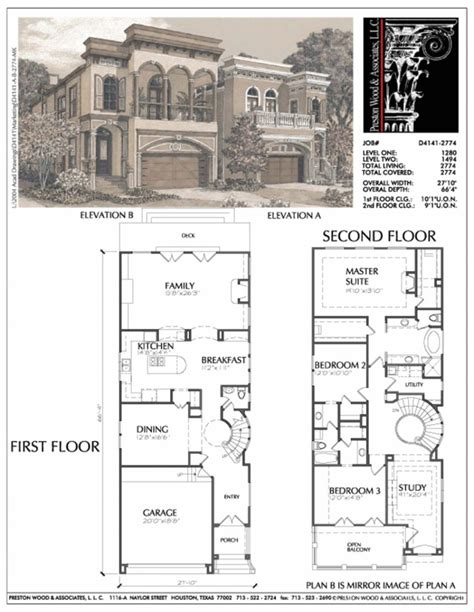 New House Blueprints | new orleans house plans narrow lots arts throughout new