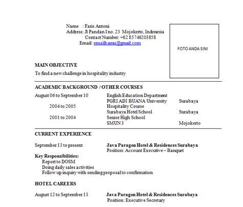contoh surat untuk lamaran kerja