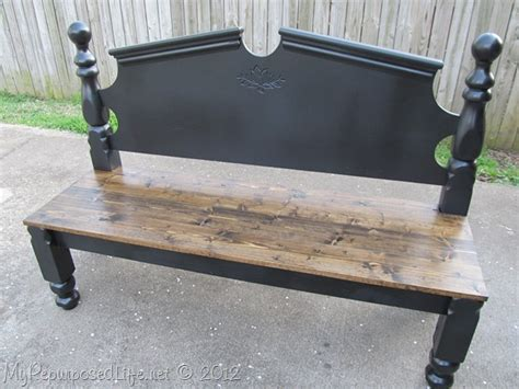 make a bench out of a headboard and footboard headboard bench ideas 25 projects my repurposed life