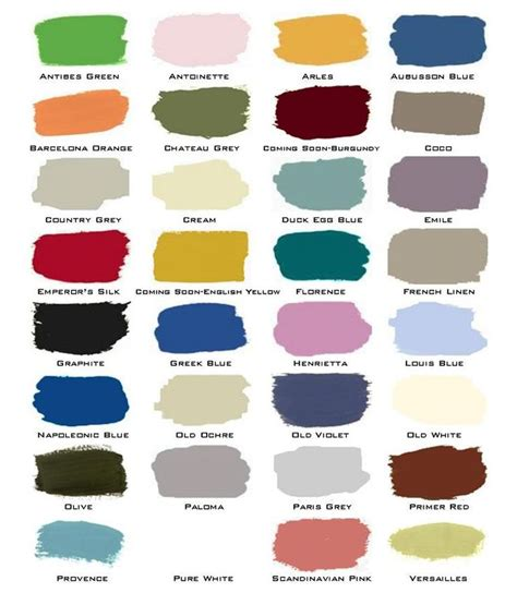 sloan chalk paint color chart sloan color chart color recipes for painted