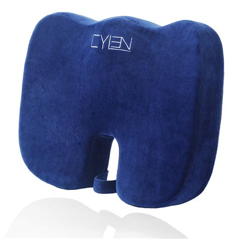 ventilated seat cushion office chair cylen home memory foam bamboo charcoal infused