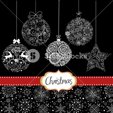 Card Ornaments Template by Black And White Ornaments Card Template Royalty