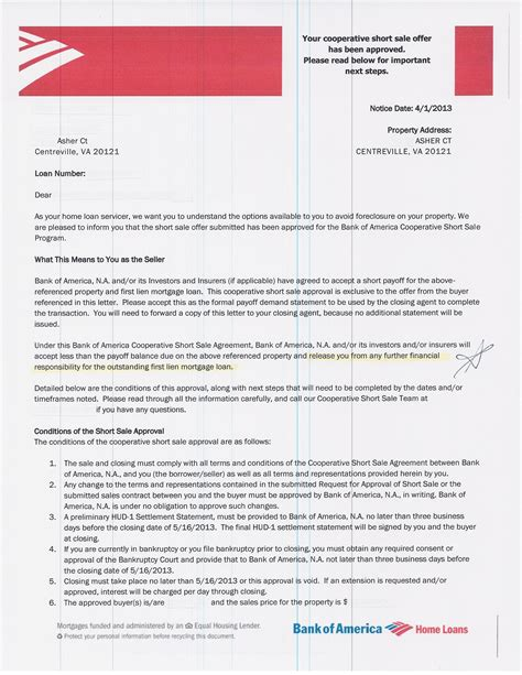 Bank Of America Letterhead Approval Letter From Bank America Approval Letter From
