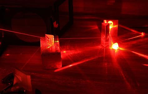 light from a helium neon laser photo