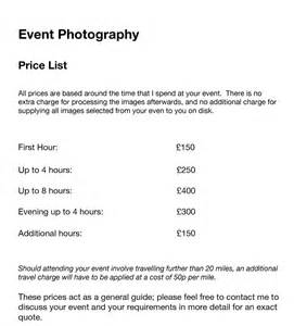 Event Prices Event Pricing Luke Dixon Photography