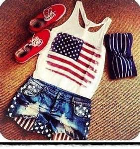 shorts bandeaus summer and american flag