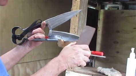 how often to sharpen razor sharpening blade shears with a sharpening peg