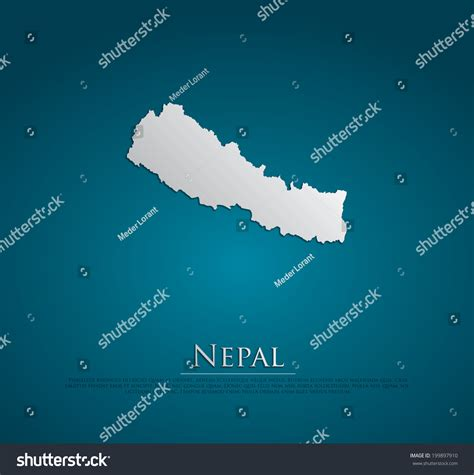 nepal map vector vector nepal map card paper on blue background high