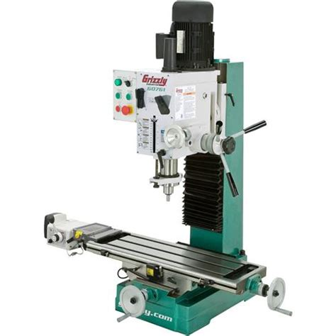 bench mill heavy duty benchtop mill drill with power feed and tapping grizzly industrial
