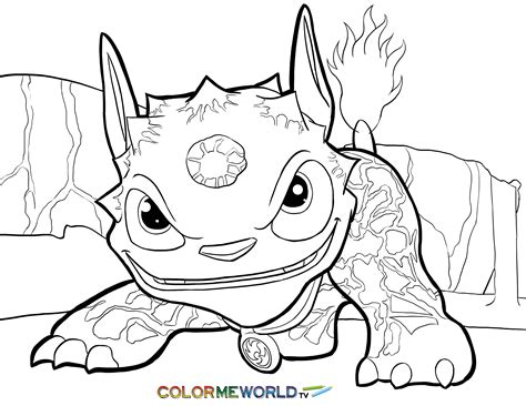 free coloring pages of skylander warnado
