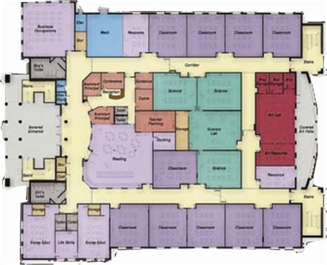 school building floor plan middle school floor plans 171 unique house plans