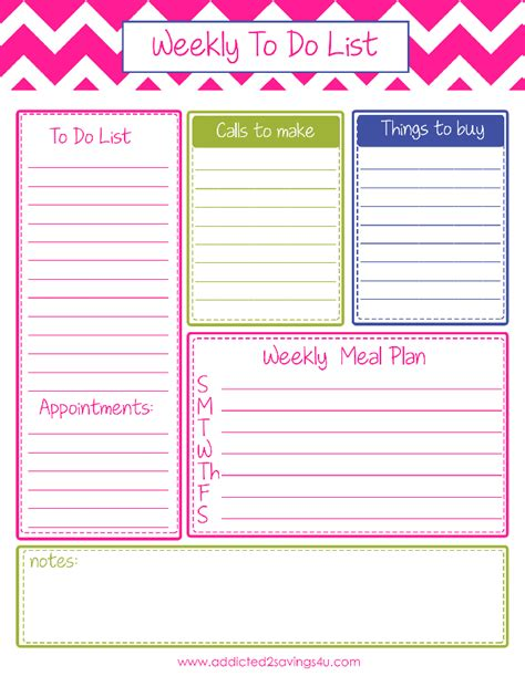 Printable Weekly Planner With To Do List | weekly to do list planner printable a spark of creativity