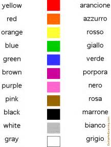 italian colors colors in italian matching quiz enchantedlearning