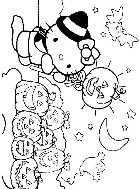 hello kitty halloween coloring pages coloring home