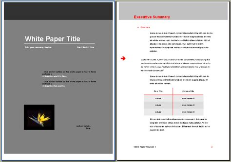technical white paper template word special offer white paper templates instant