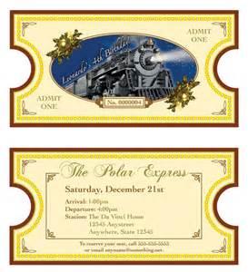 polar express theme invitation diy printable 2 sided ticket by cici and bobo