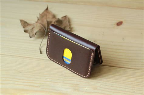 Handmade Leather Card Holder - handmade leather card slim card holder minimal