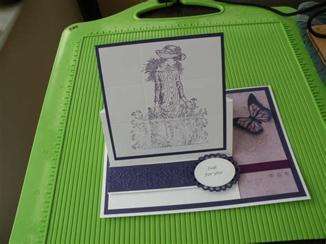 stin up card stand up card with faux tiles design card ideas