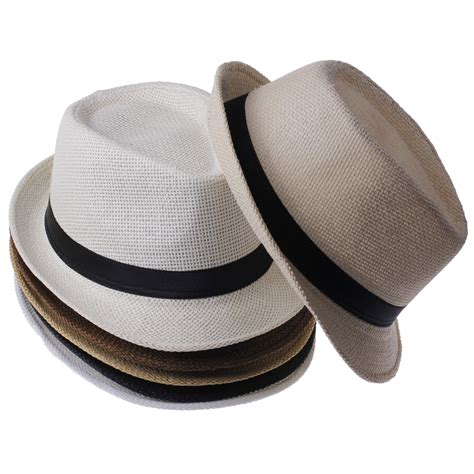 Fedorafashion Hem No 95 1 fashion summer straw s sun hats fedora trilby gangster cap summer sun straw panama