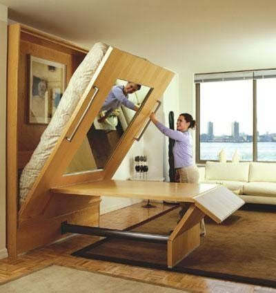 Murphy Bed And Table Combo Pin By Markwardt On Big Living In Small Spaces