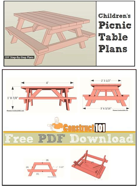 picnic table plans pdf top 25 ideas about construct101 on picnic