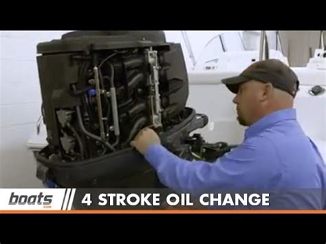 how to change engine on four stroke outboard