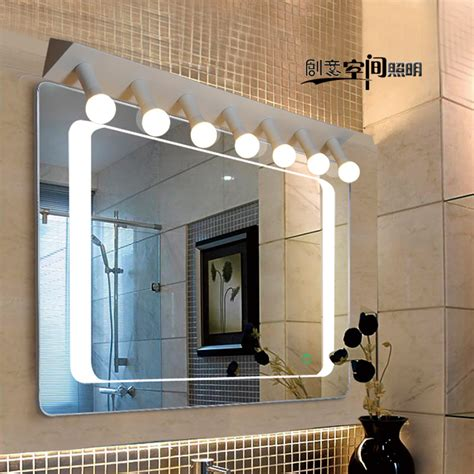 bathroom mirror anti fog modern minimalist led mirror front anti fog l