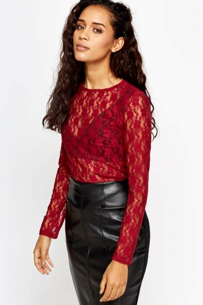 Sleeved Lace Top sleeve lace top just 163 5