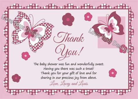 thank you letter baby gift sle thank you letter for baby shower gift card gift ftempo