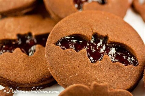 Delcious Yam Cookies chocolate cookies with jam cut out delicious