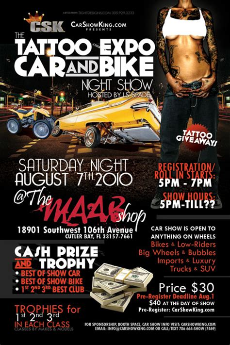 maab shop tattoo expo amp car show promotional flyer design