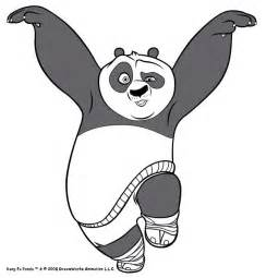 Kung Fu Panda Outline by Po The Kung Fu Panda Coloring Pages Hellokids