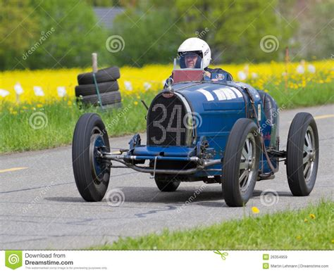 vintage bugatti race car vintage pre war race car bugatti t editorial stock image