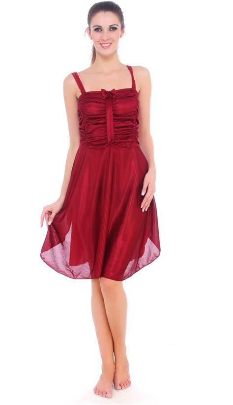 nighty dress with price fasense women s nighty buy maroon fasense women s nighty