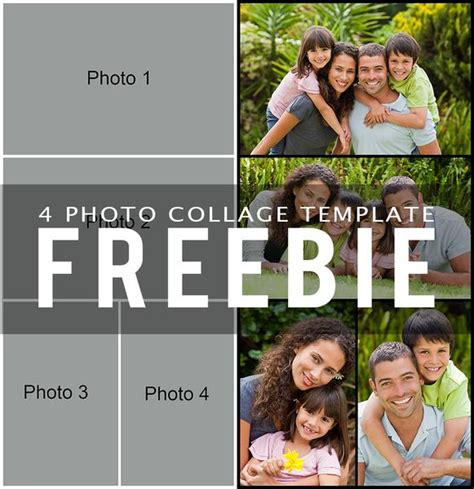 Free 4 Photo Collage Template Bp4u Guides 4 Photo Collage Template