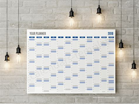 daily planner 2018 yearly wall planner agenda template best year planner template 2018 printable pdf wall agenda