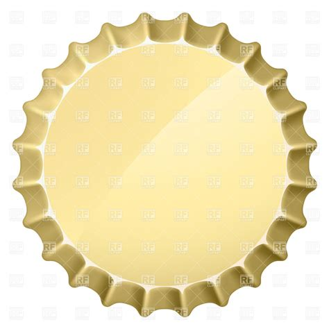 blank bottle cap template royalty free vector clip art