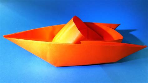 origami boat floats how to make a paper boat that floats origami boat youtube