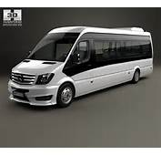 Mercedes Benz Sprinter CUBY City Line Long Bus 2016 3D Model