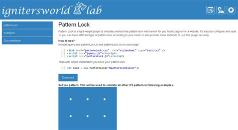 pattern lock jquery top jquery plugins for june 2014 code geekz