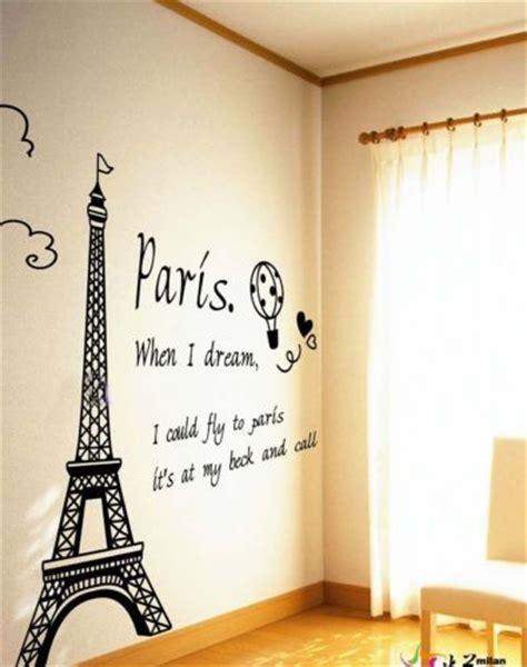 paris wall stickers for bedrooms 50 70 cm giant black eiffel tower wall decals paris